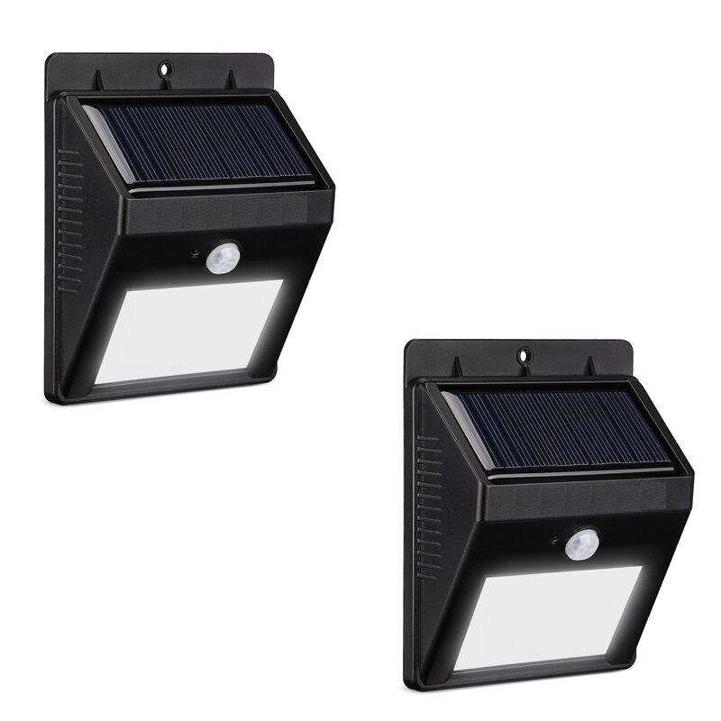 Modern Motion Sensor Solar 2-Light Outdoor Spotlight  sc 1 st  Wayfair & Symple Stuff Modern Motion Sensor Solar 2-Light Outdoor Spotlight ...