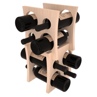 Sutton Pine Contemporary Cube 8 Bottle Tabletop Wine Rack