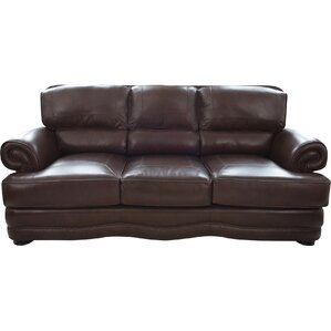 Eldora Leather Sofa by Darby Home Co