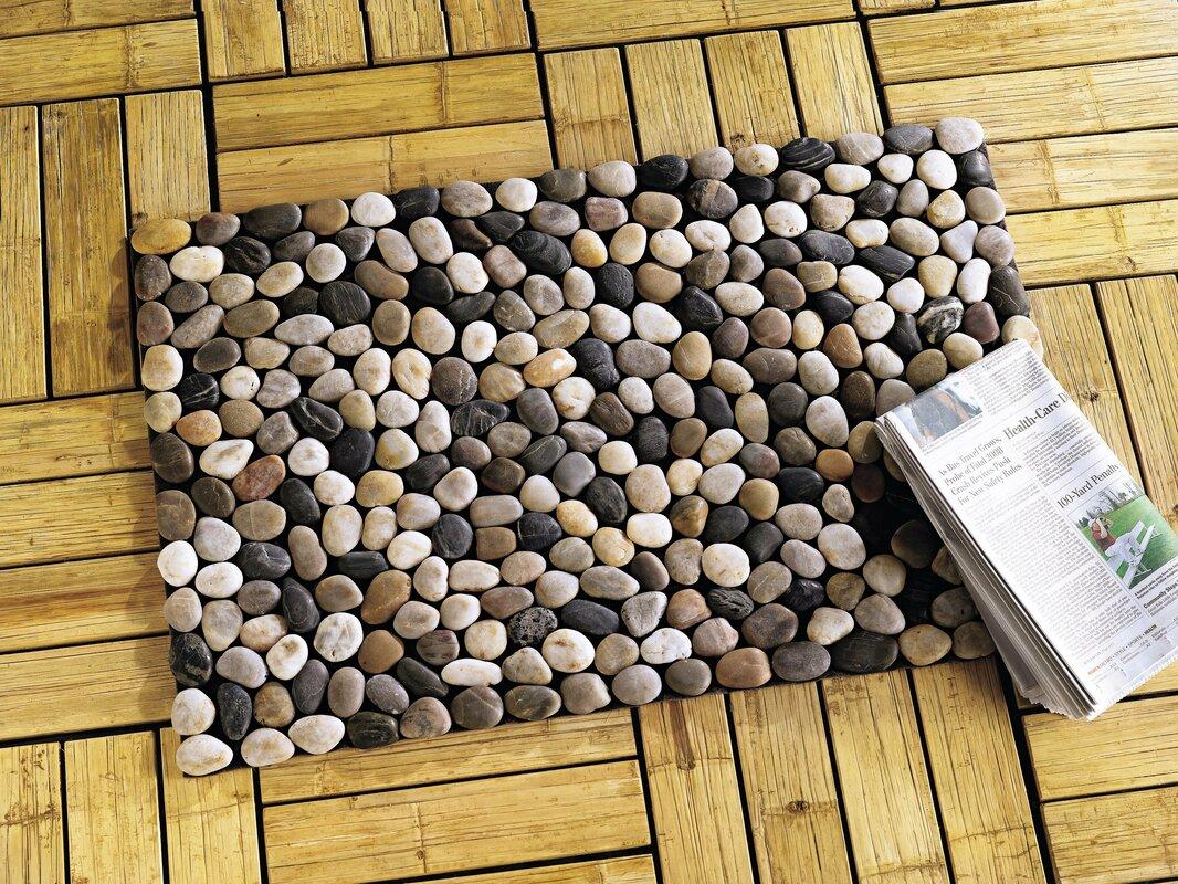 Wind weather river rock doormat reviews wayfair for River stone doormat