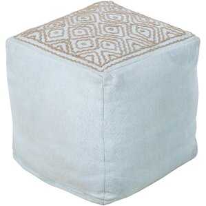 Daria Embroidered Pouf Ottoman by Surya