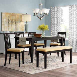 upholstered dining room set oversized oneill piece upholstered dining set wayfair