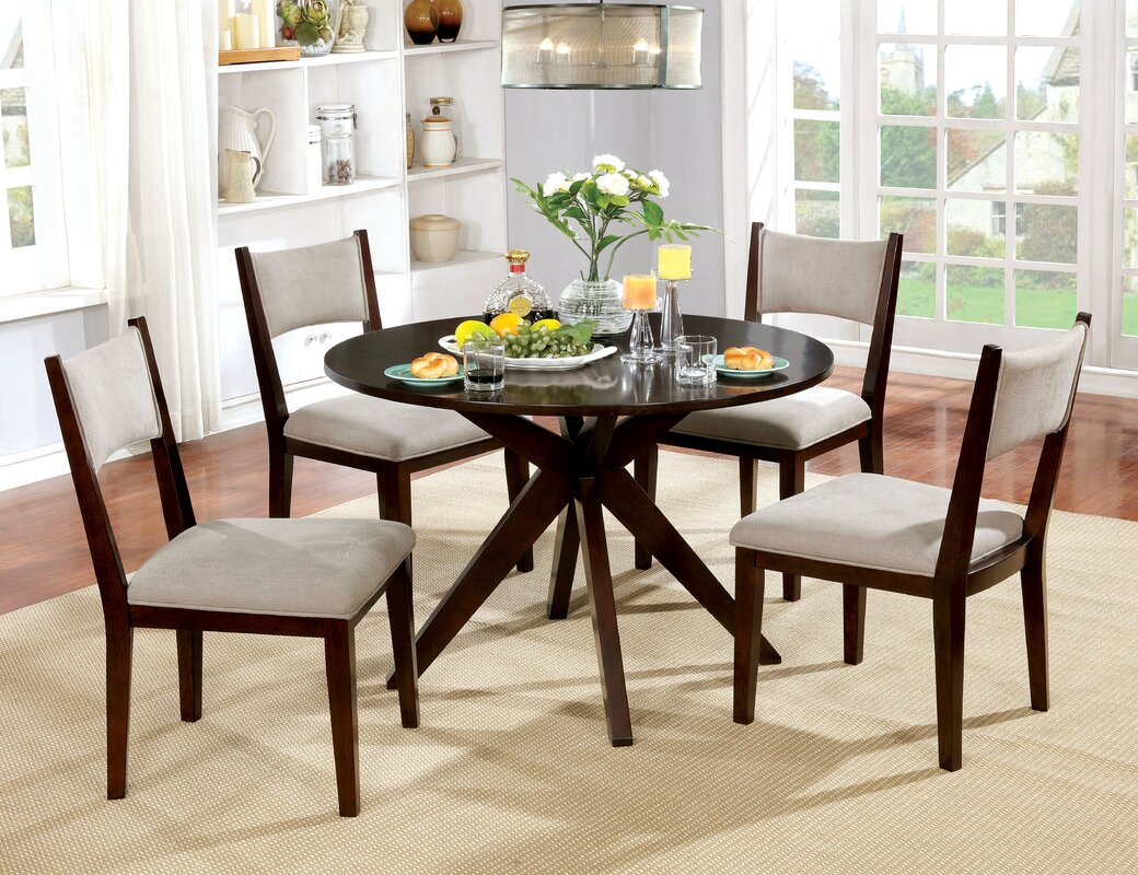 Wrought Studio Bathurst Mid Century Modern Round Dining Table