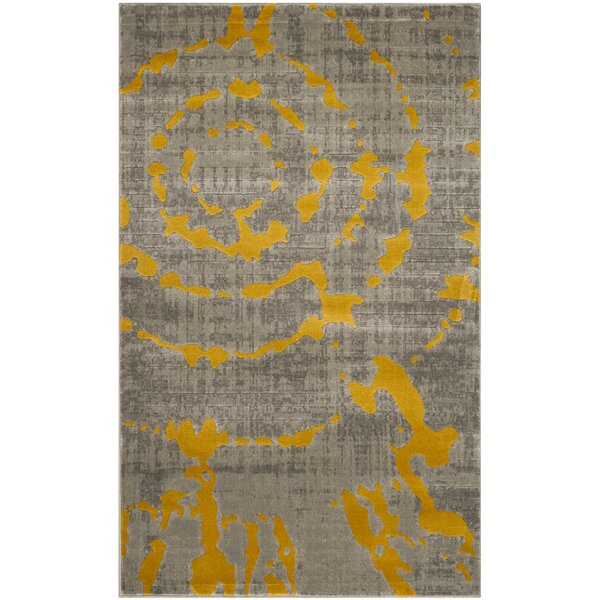 Attractive World Menagerie Chaima Light Gray/Yellow Area Rug U0026 Reviews | Wayfair