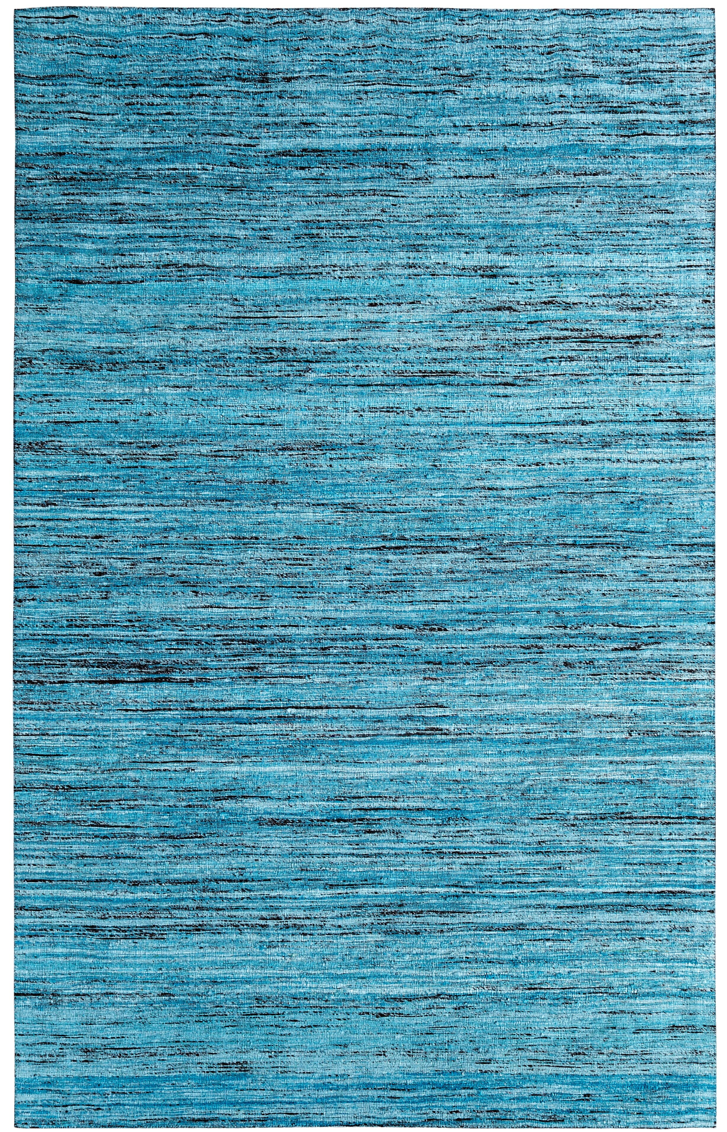Ebern Designs One Of A Kind Beach Hand Woven Teal Area Rug &