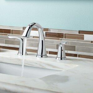 lahara double handle widespread bathroom faucet - Delta Lahara