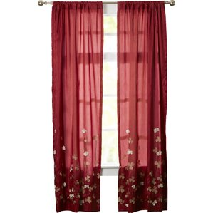 Jordy Nature/Floral Blackout Rod Pocket Single Curtain Panel