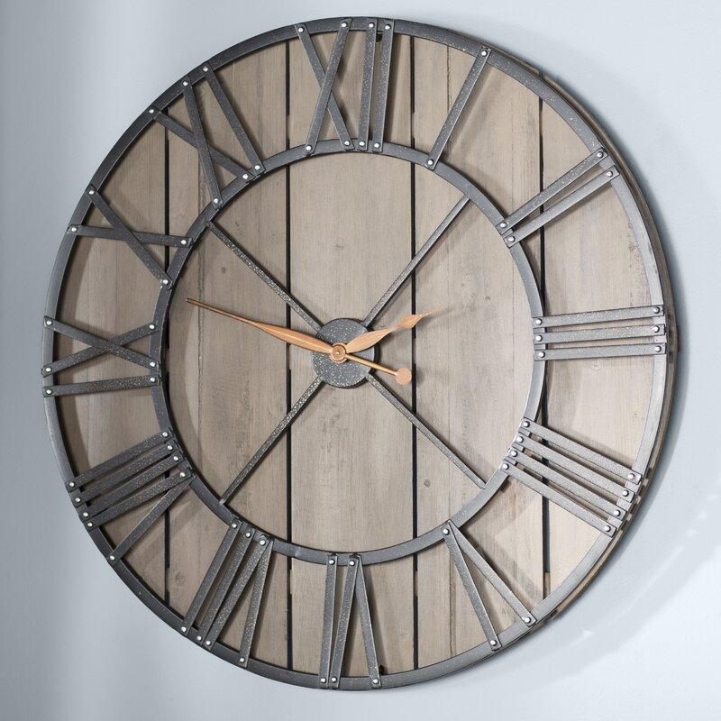 Oversized Eglinton 36 Roman Numerals Barnwood Wall Clock Reviews