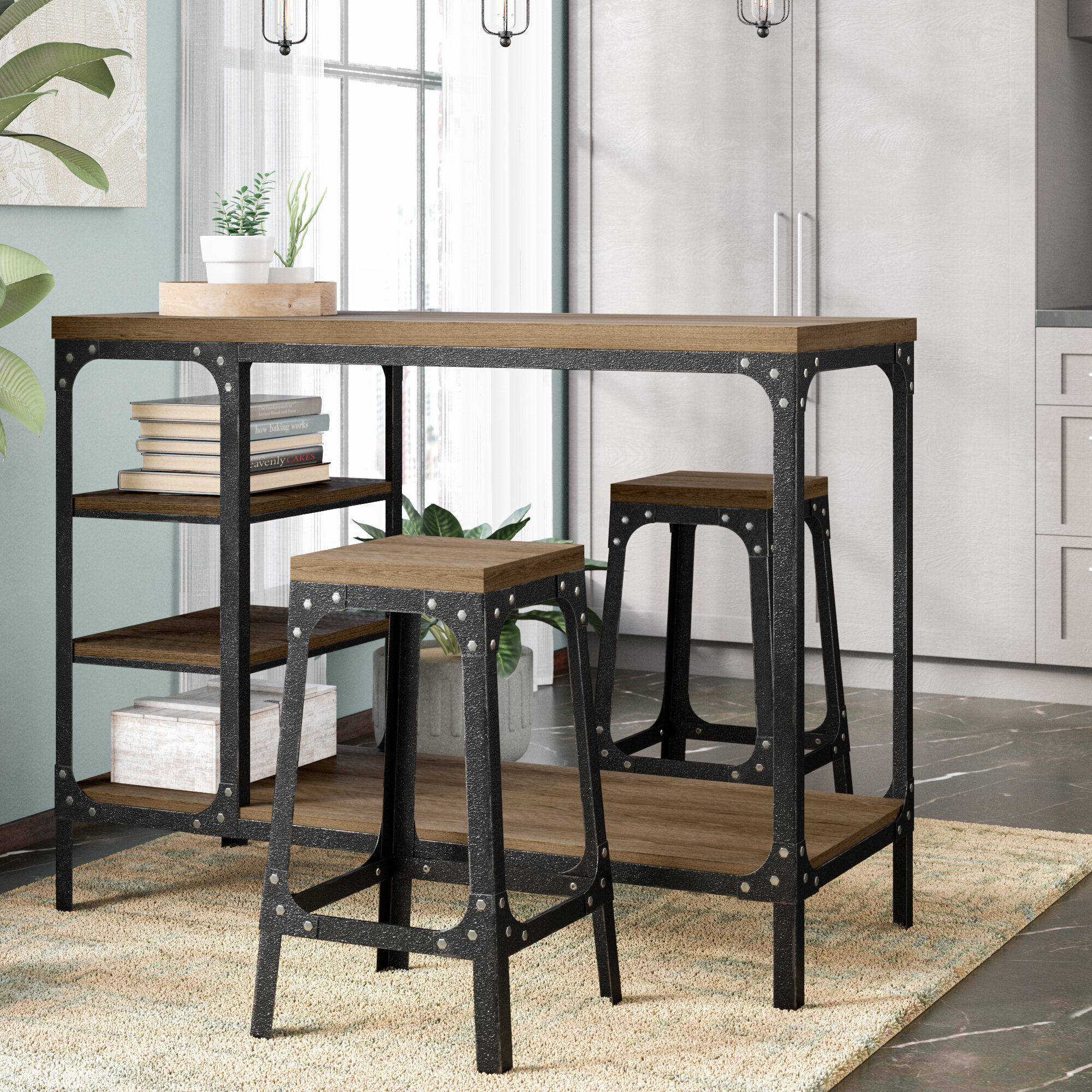 Williston Forge Terence 3 Piece Counter Height Dining Set U0026 Reviews |  Wayfair