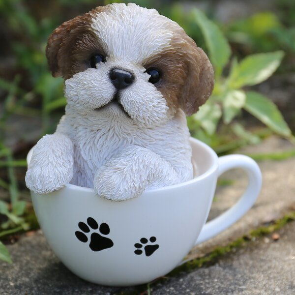 Hi Line Gift Ltd Teacup Shih Tzu Puppy Statue Amp Reviews