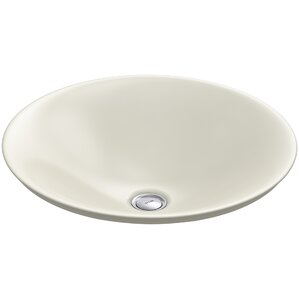 Amazing Carillon Ceramic Circular Vessel Bathroom Sink
