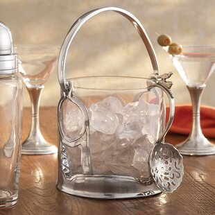 Taverna Crystal Ice Bucket With Handles