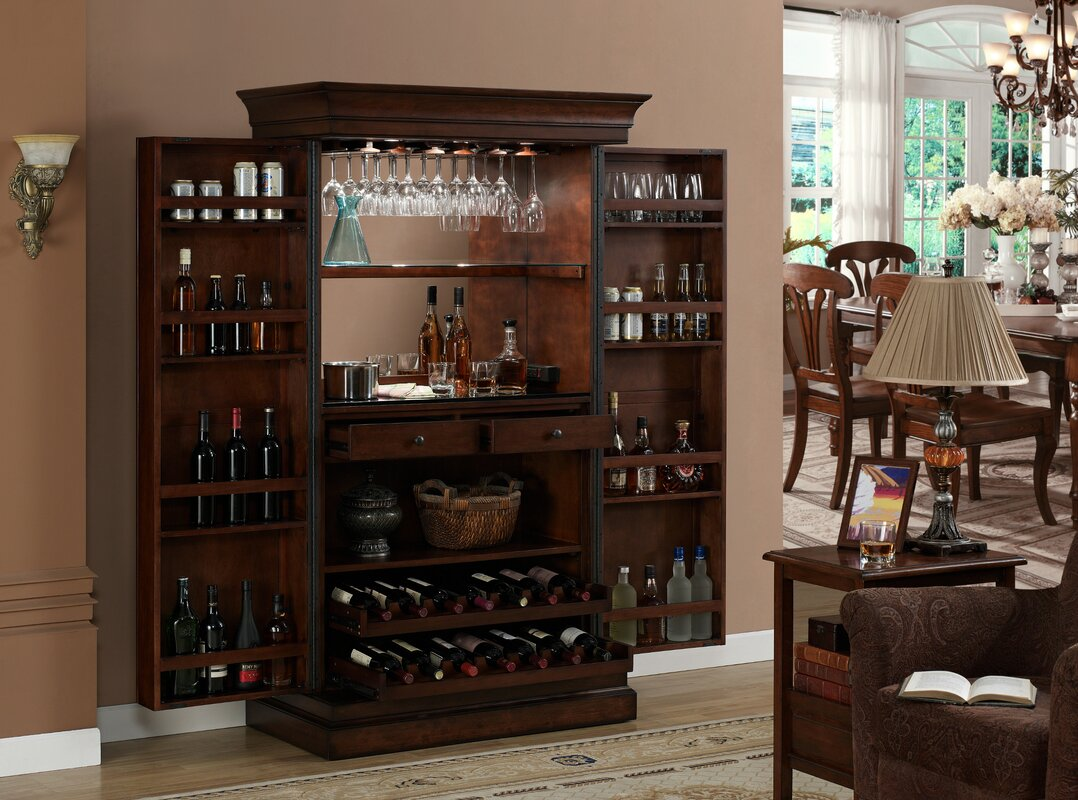 Raleigh Bar Cabinet with Wine Storage