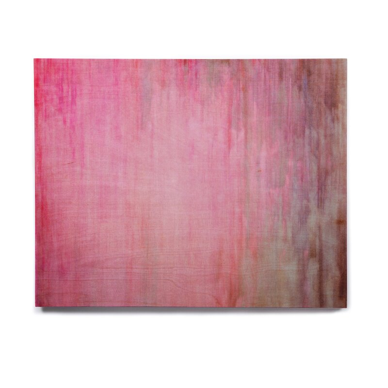 Blush Color Wash Pink Graphic Art Print On Wood