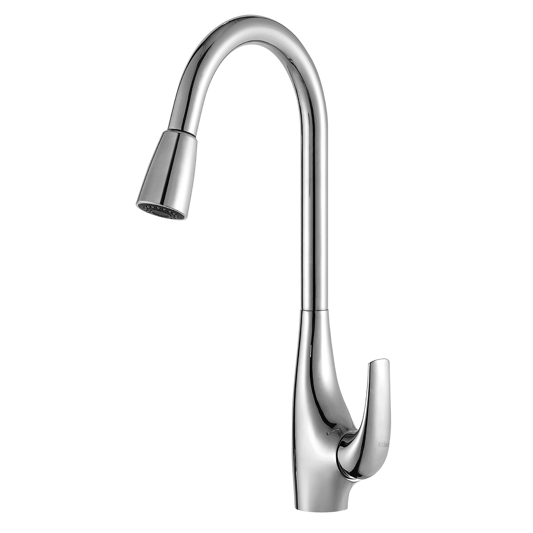 high arch kitchen faucet kraus high arch single handle pull kitchen faucet 18045