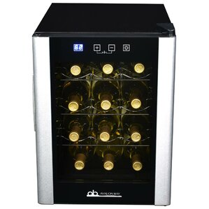 12 Bottle Single Zone Freestanding Wine Cooler by Avalon Bay