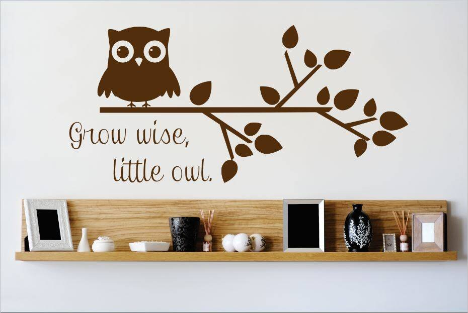 Grow Wise, Little Owl Wall Decal