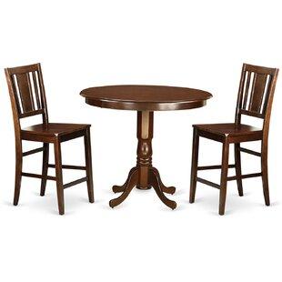 Trenton 3 Piece Counter Height Pub Table Set