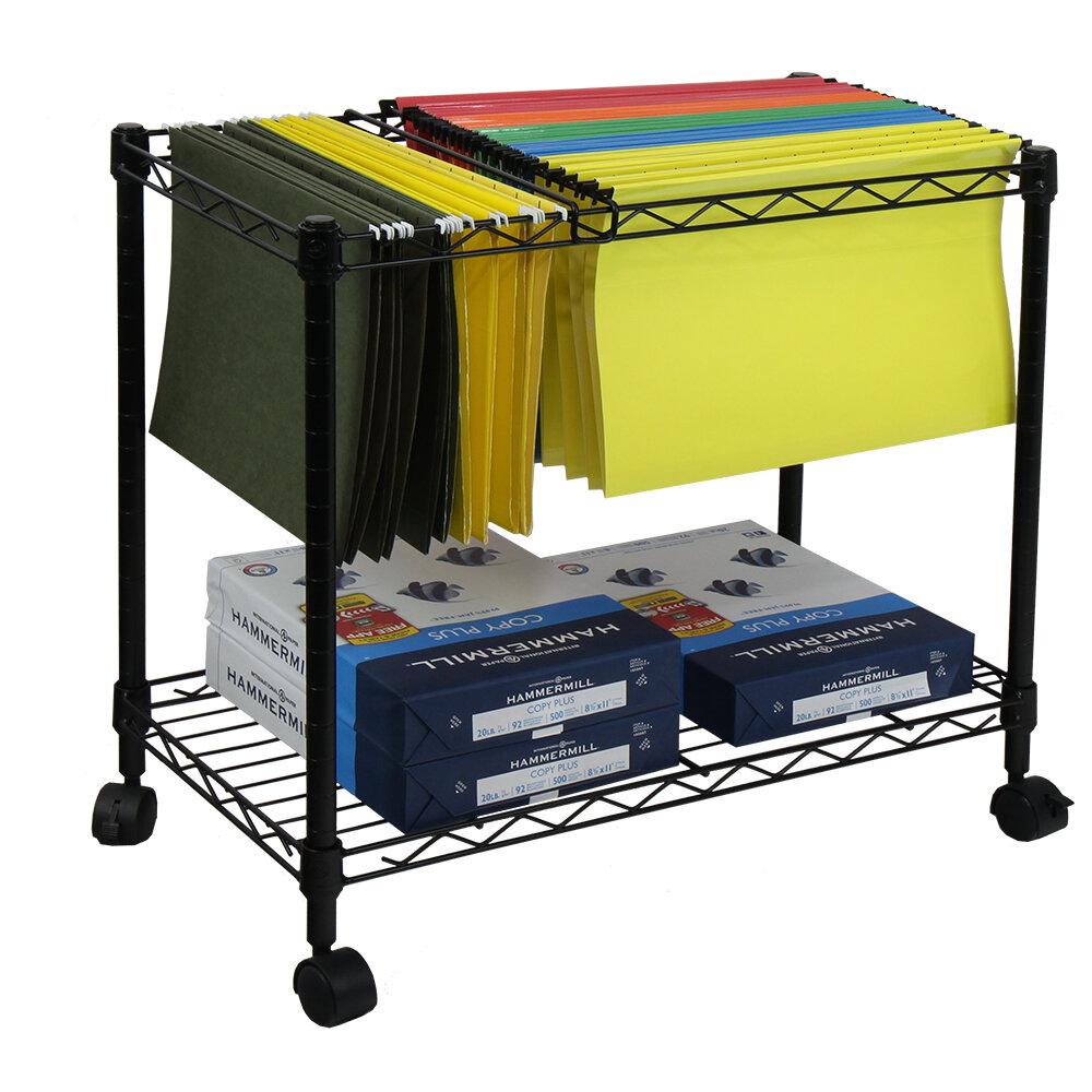 Oceanstar Design Portable 1 Tier Metal Rolling File Cart Reviews Wayfair