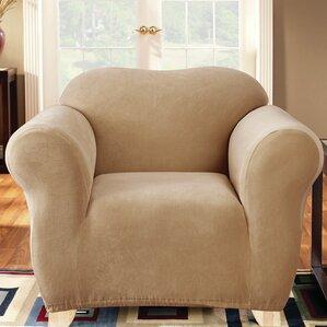 Stretch Pearson Box Cushion Armchair Slipcov..