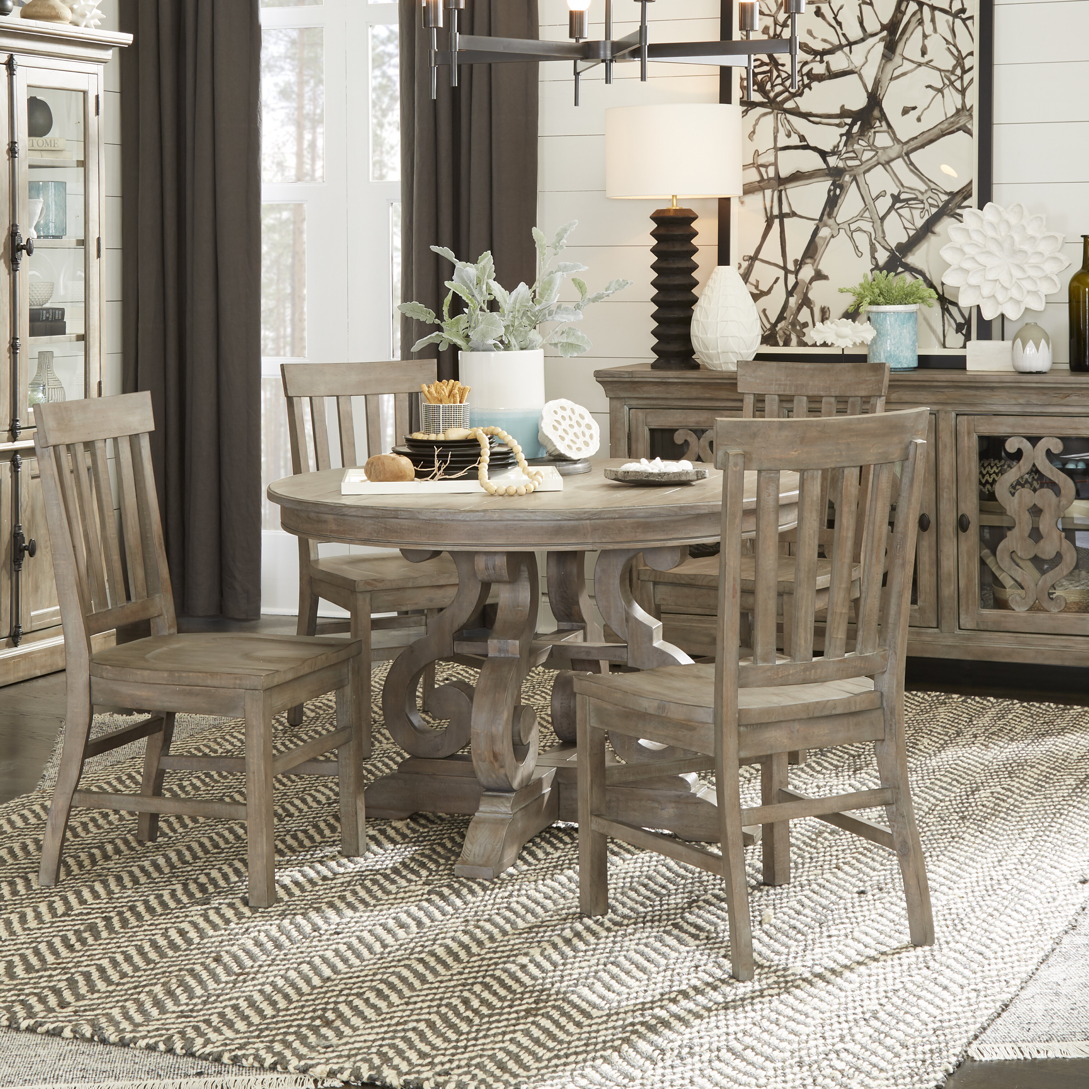 Ellenton Coffee Table With Storage: Greyleigh Ellenton 5 Piece Solid Wood Dining Set