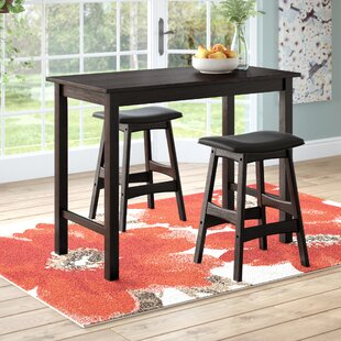 Nhien 3 Piece Counter Height Pub Table Set