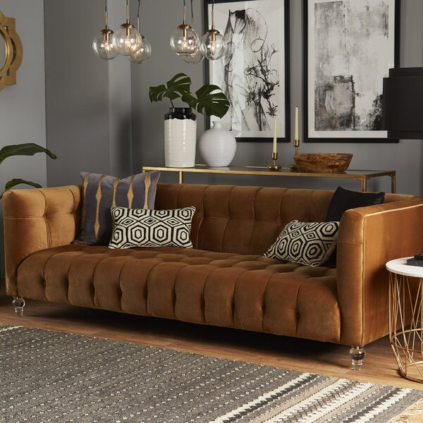 Etonnant Dark Brown Velvet Sofa | Wayfair