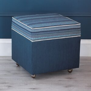 Martinique Storage Boxed Ottoman by Eastern Accents