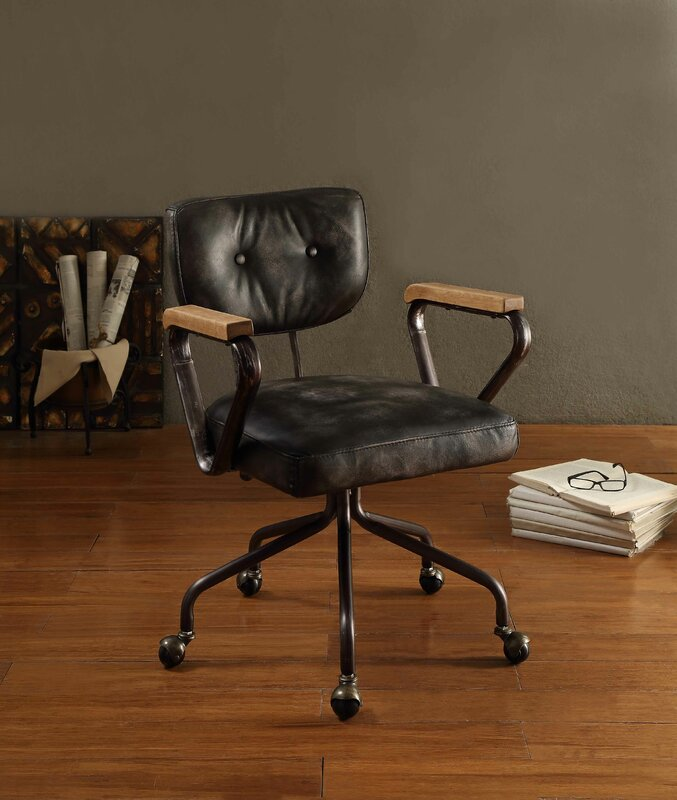 Hallie Mid Back Leather Executive Chair