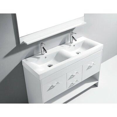 Brayden Studio Frausto 48 Double Bathroom Vanity Base Only Finish: White