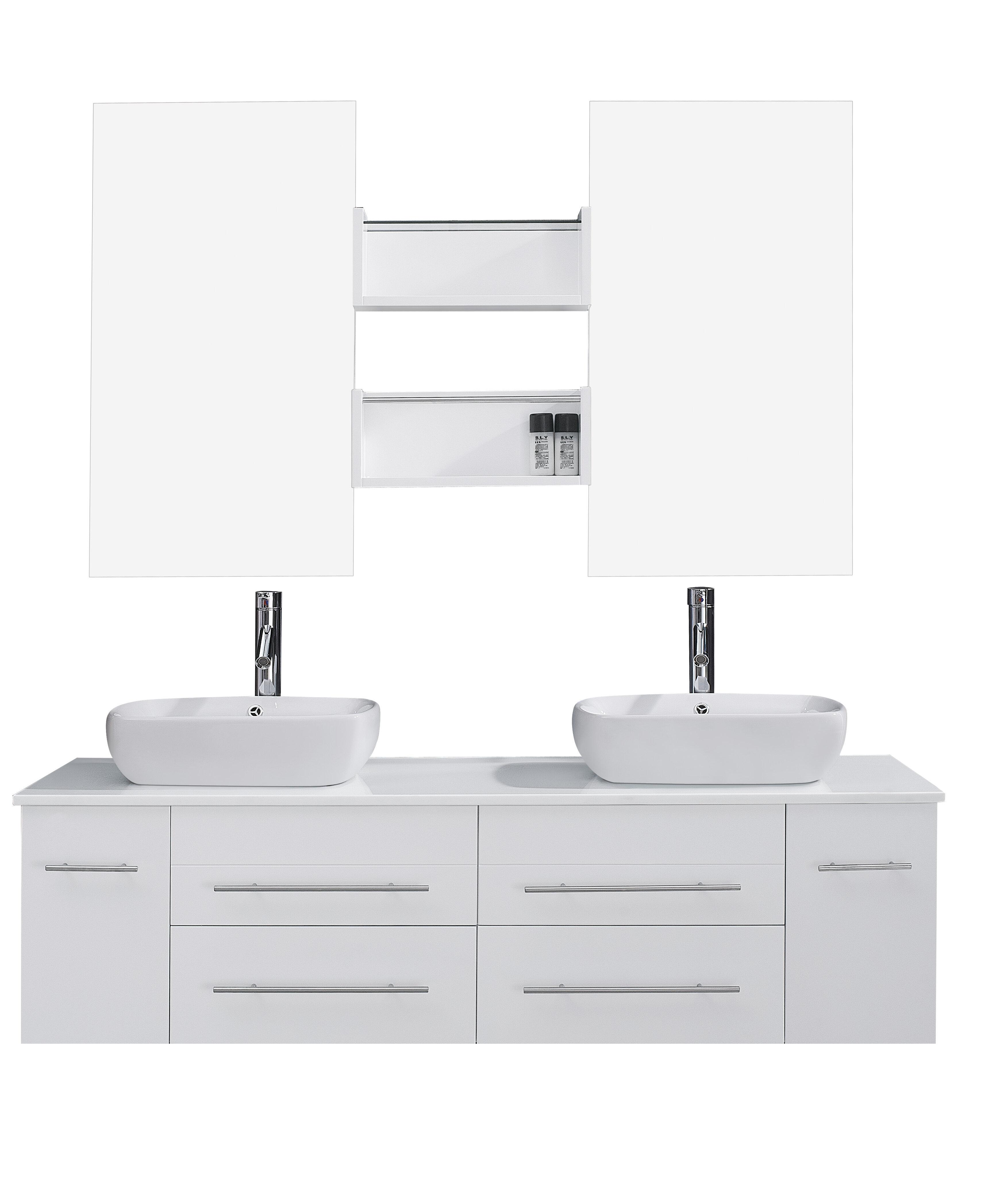 Virtu Usa Ultra Modern Series 60 Double Bathroom Vanity