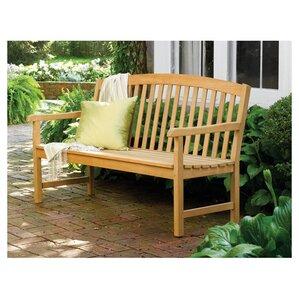 Dayana Rustic Wood Garden Bench