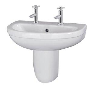 Ultra 54 cm Waschbecken Ivo mit Halbsäule