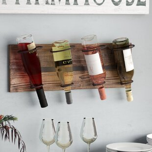 Schumann 4 Bottle Wall Mounted Wine Rack