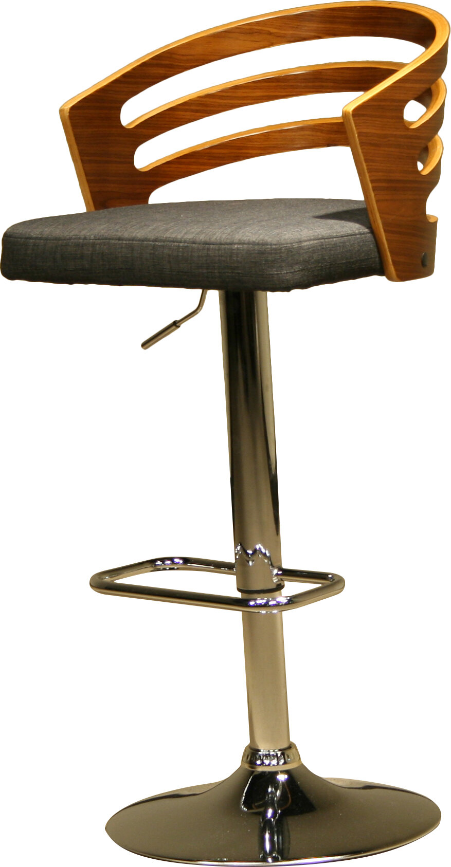 Ac Pacific Modern Wood Adjule Height Swivel Bar Stool Reviews Wayfair