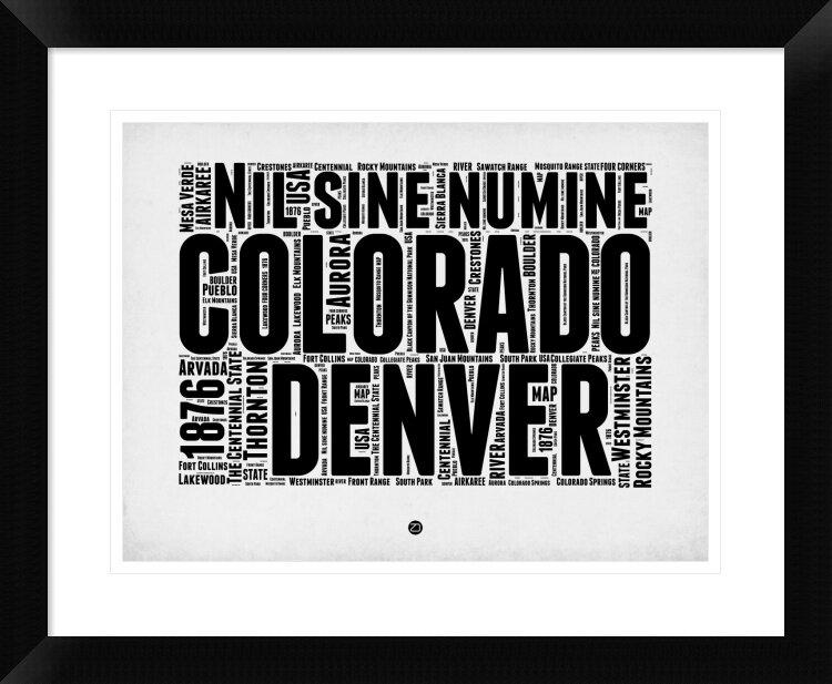 Naxart Denver Word Cloud 2 Framed Textual Art Wayfair