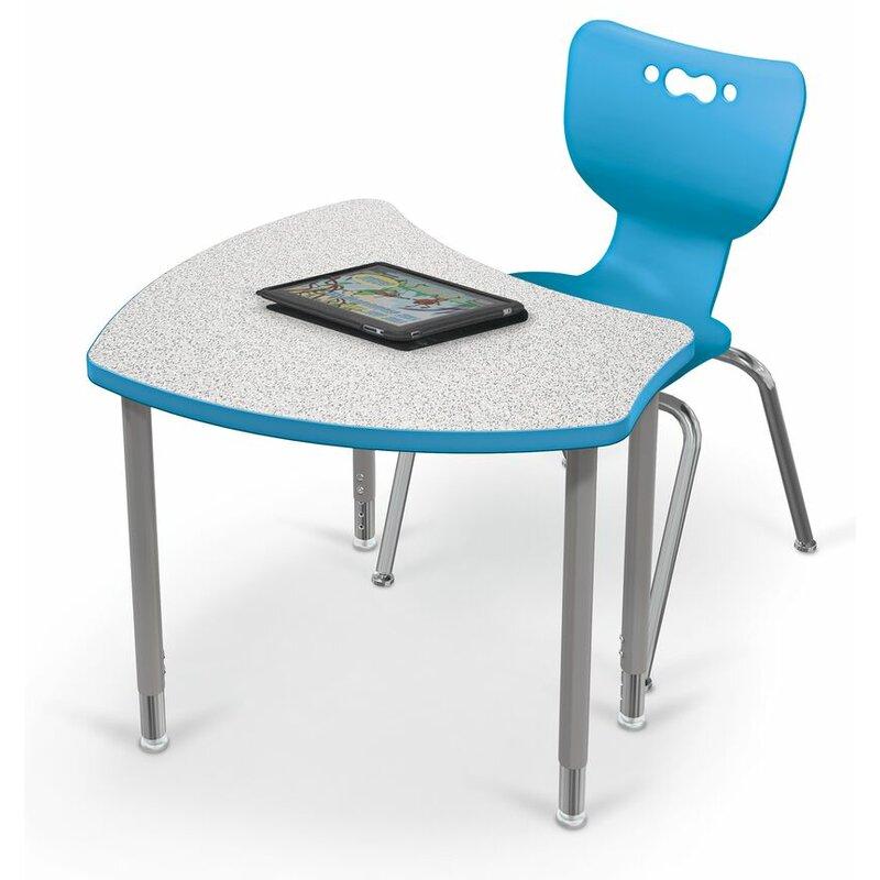 MooreCo Hierarchy Classroom Desk U0026 Chair Set: 5 Manufactured Wood Adjustable  Height Desks U0026 5 Chairs | Wayfair