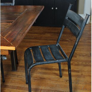 metal dining chairs wood table. Linde Distressed Metal Dining Chair  Set of 2 Chairs Wayfair