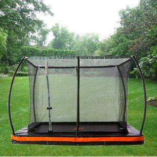 In Ground 10u0027 Rectangular Trampoline With Safety Enclosure