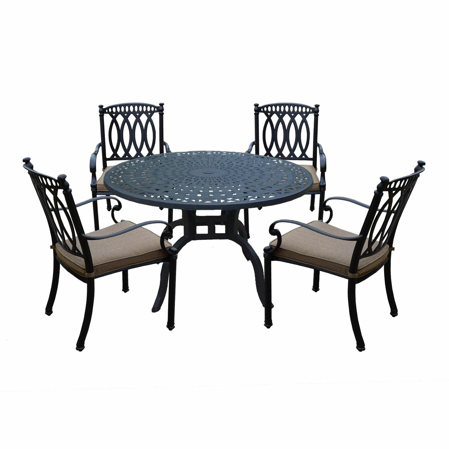 Darby Home Co Otsego 5 Piece Rust Free Aluminum Dining Set With