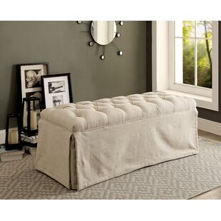 Crete Button Tufted Wood Bench