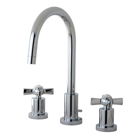 Kingston Brass Millennium Widespread Cross Handle Bathroom Faucet ...