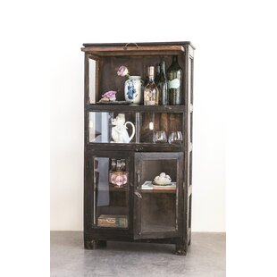 Nevada Found Showcase Wood and Glass Curio Cabinet