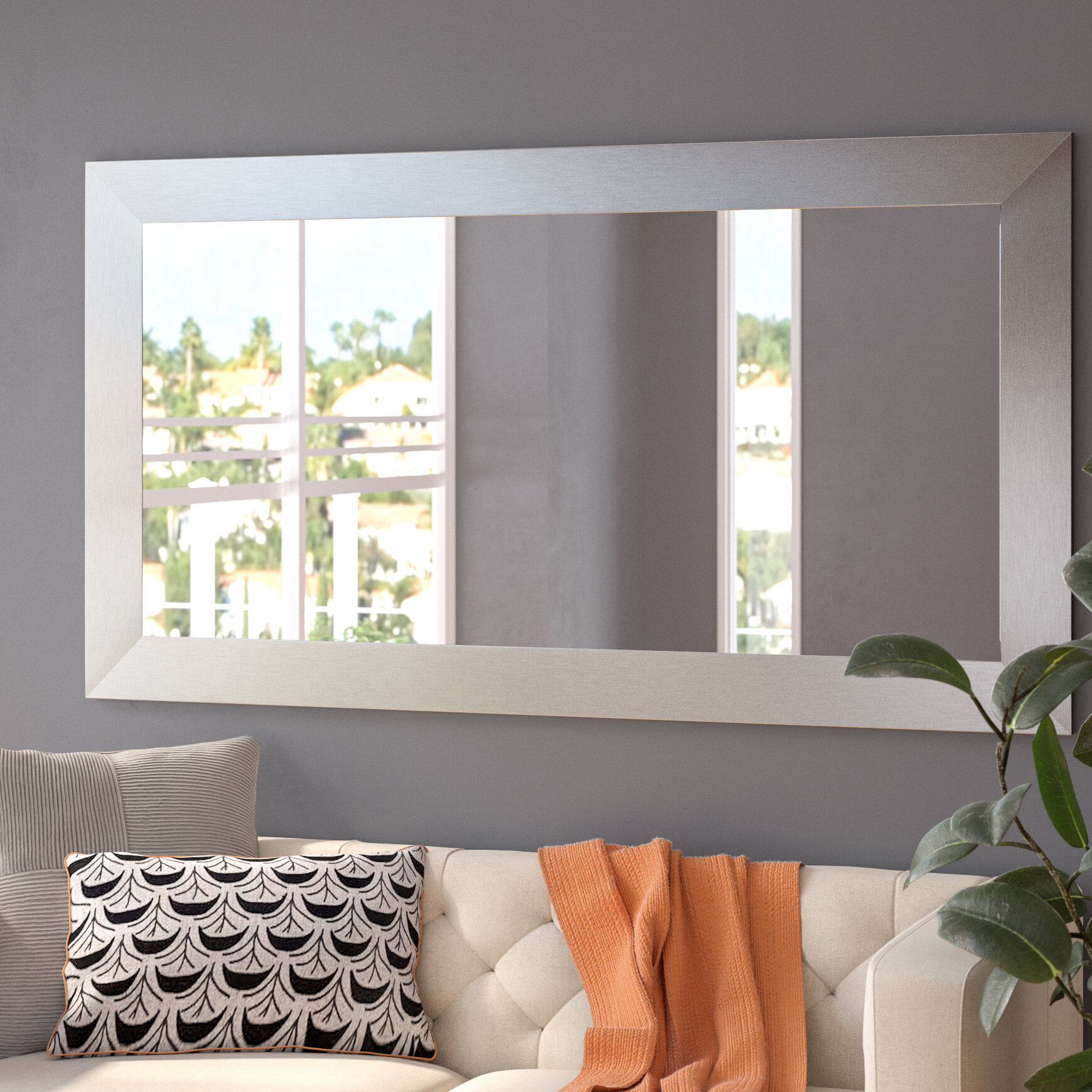 Orren Ellis Hecuba Rectangle Full Length Wood Framed