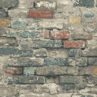 Crigler 16 5 L X 20 W Brick Alley And Stick Wallpaper Roll