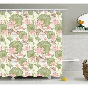 Angelina Lotus Flowers Pond Lilies Shower Curtain