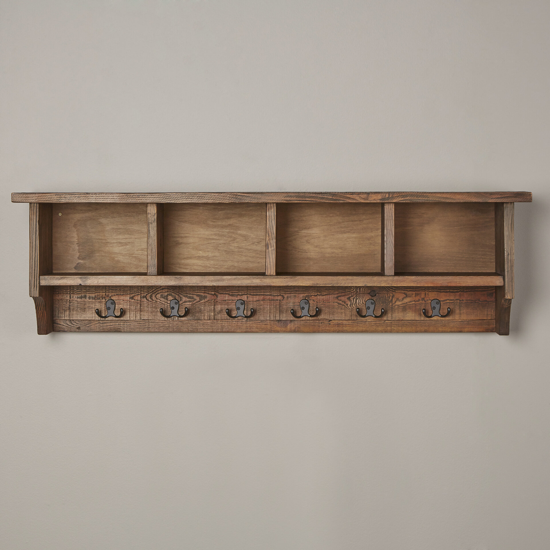 Mistana Veropeso Wall Mounted Coat Rack With Storage Cubbies