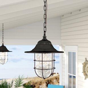 Outdoor hanging lights youll love wayfair stanley 1 light outdoor hanging lantern aloadofball Images