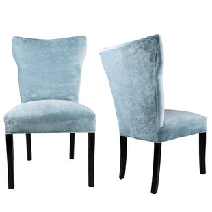 Cresson Wing Back Upholstered Parsons Chair (Set of 2)