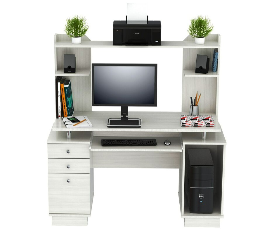 Inval Laura Computer Desk With Hutch Amp Reviews Wayfair Ca